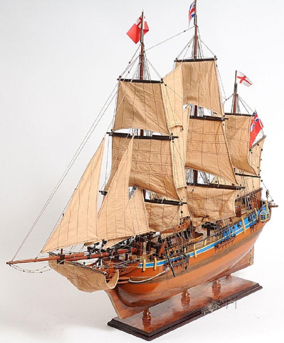 HAND MADE WOODEN HMS Bounty W/COA - 3