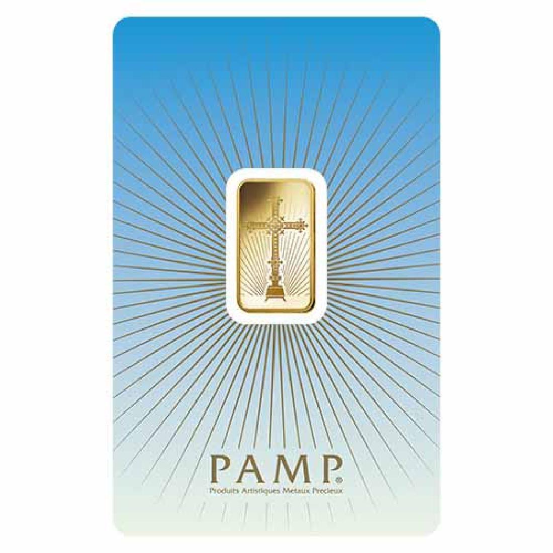 PAMP Suisse 5 Gram Gold Bar - Romanesque Cross