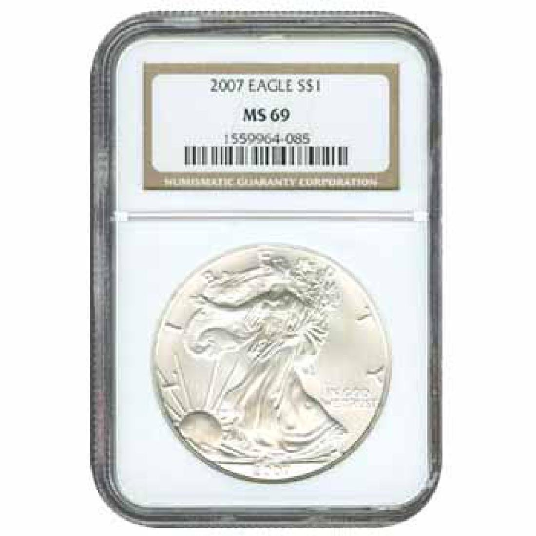 Certified Uncirculated Silver Eagle 2007 MS69
