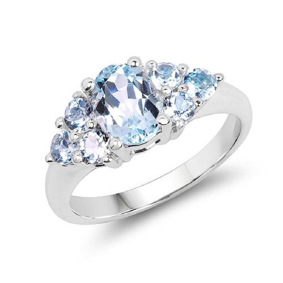 2.32 Carat Genuine Blue Topaz .925 Sterling Silver Ring