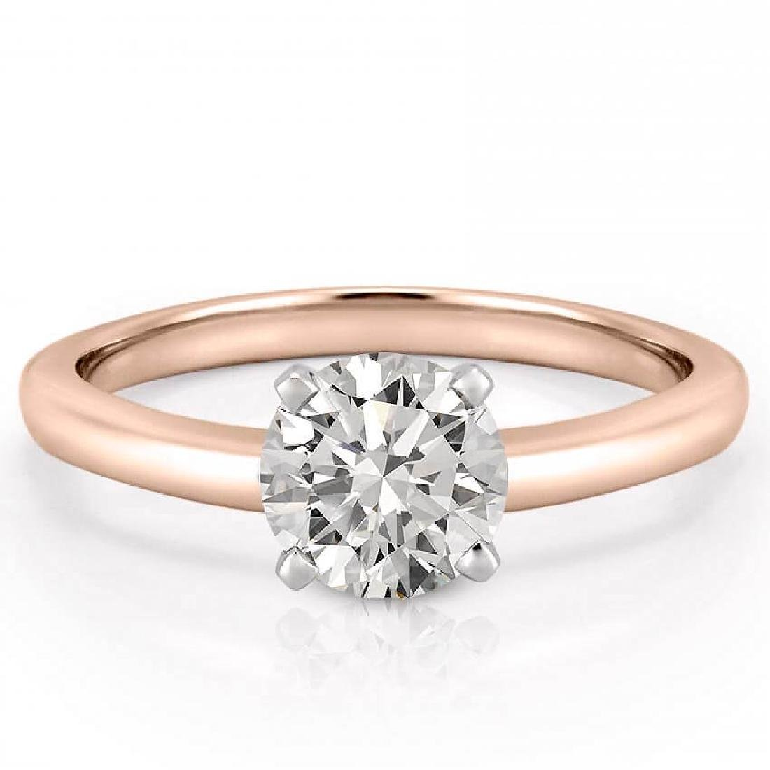 CERTIFIED 1 CTW ROUND D/VVS1 DIAMOND SOLITAIRE RING IN