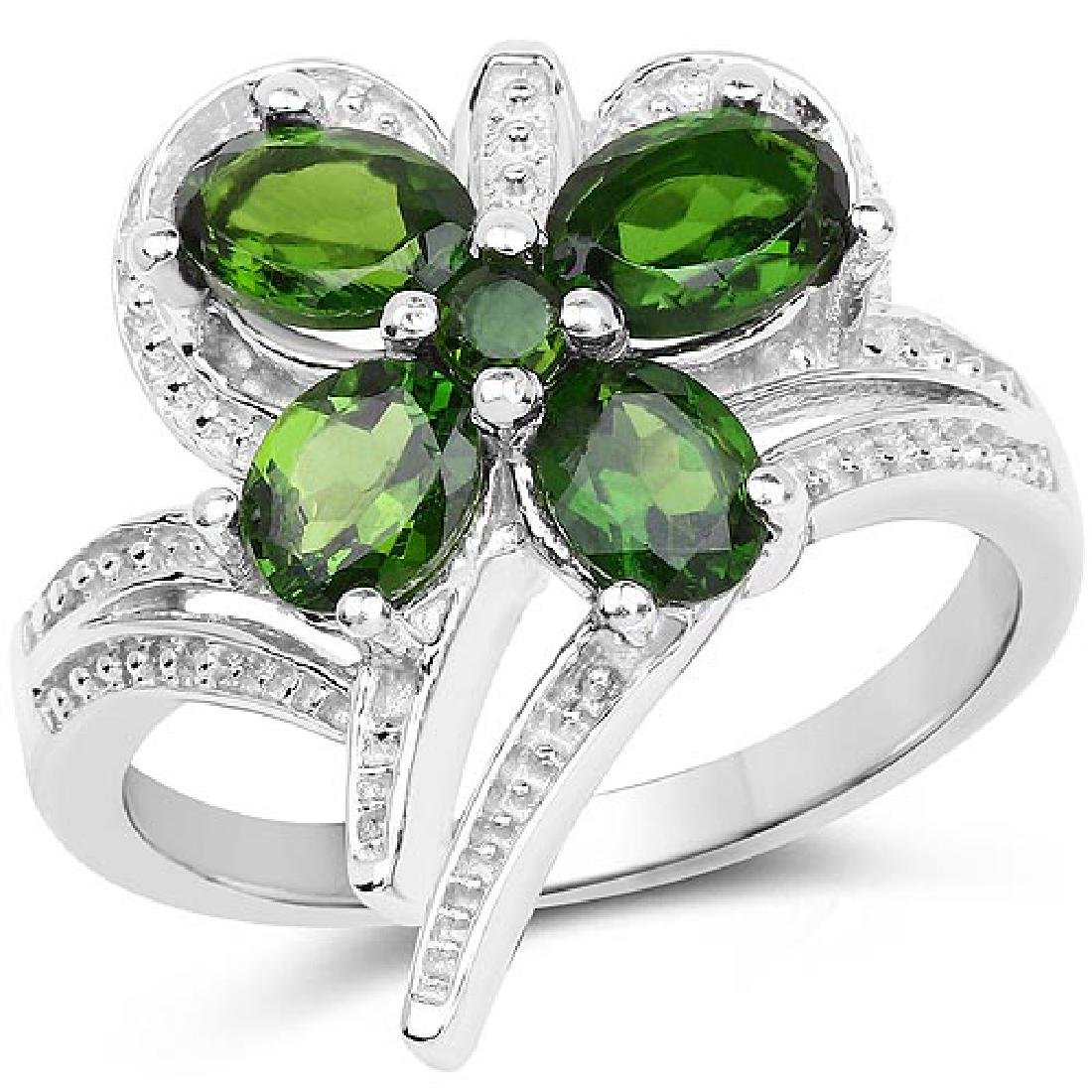 1.60 Carat Genuine Chrome Diopside and Chrome Diopside