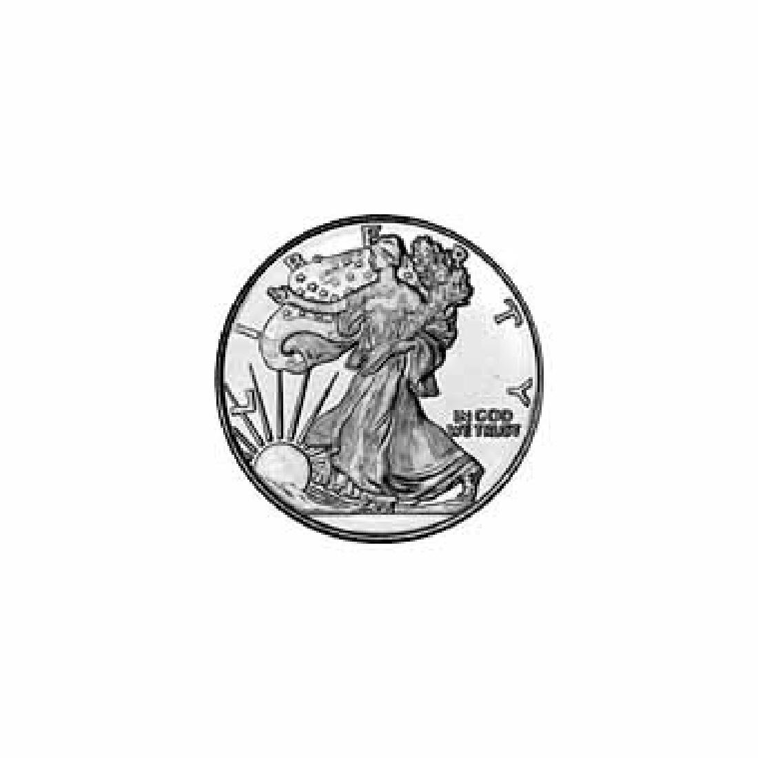 Silver Bullion 1/10 oz Walking Liberty Round .999 Fine
