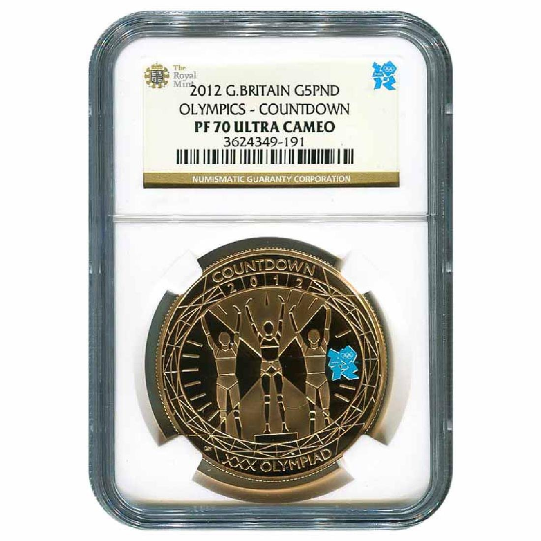 Certified Great Britain 2012 Piefort 5 Pound NGC PF70 O