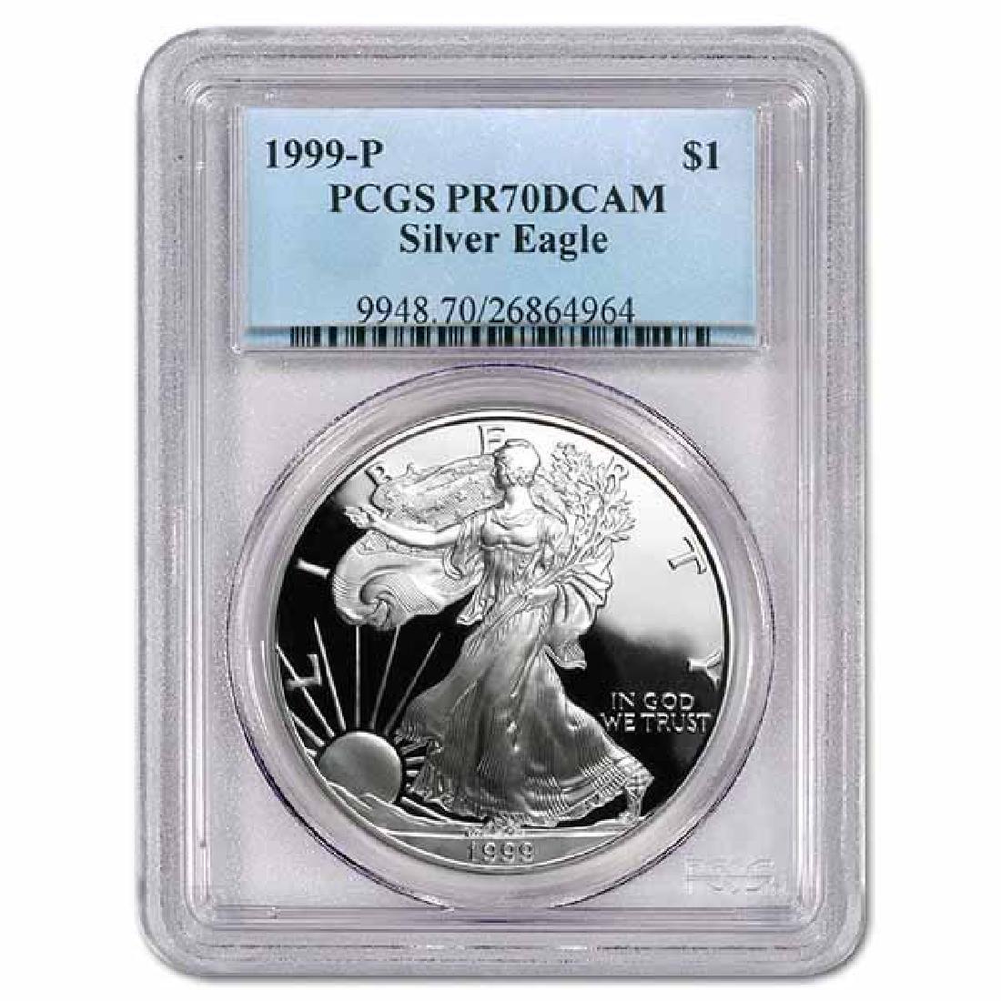 Certified Proof Silver Eagle 1999-P PR70DCAM PCGS