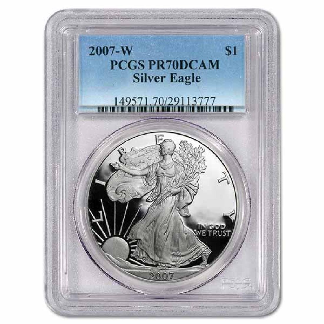 Certified Proof Silver Eagle 2007-W PR70DCAM PCGS
