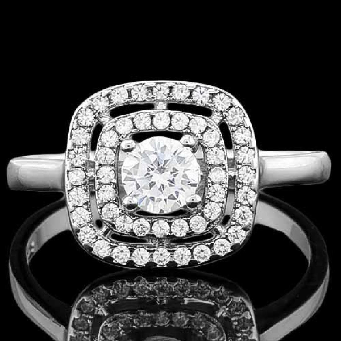1 CARAT (53 PCS) FLAWLESS CREATED DIAMOND 925 STERLING
