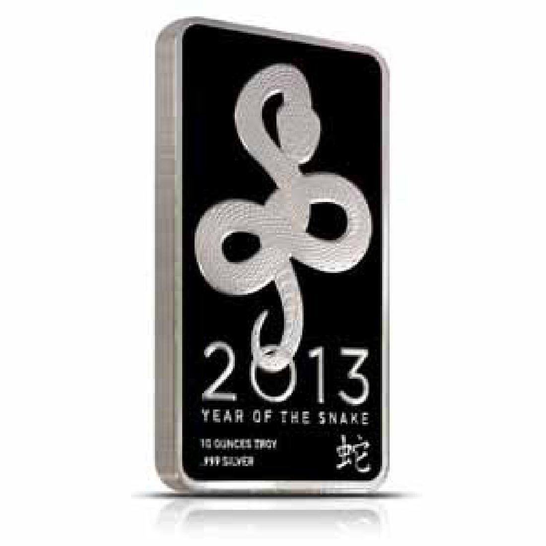 NTR Metals Silver Bar 10 oz - 2013 Snake Design