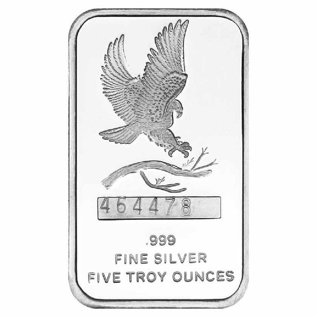 SilverTowne 5 oz Silver Bar - Eagle Design