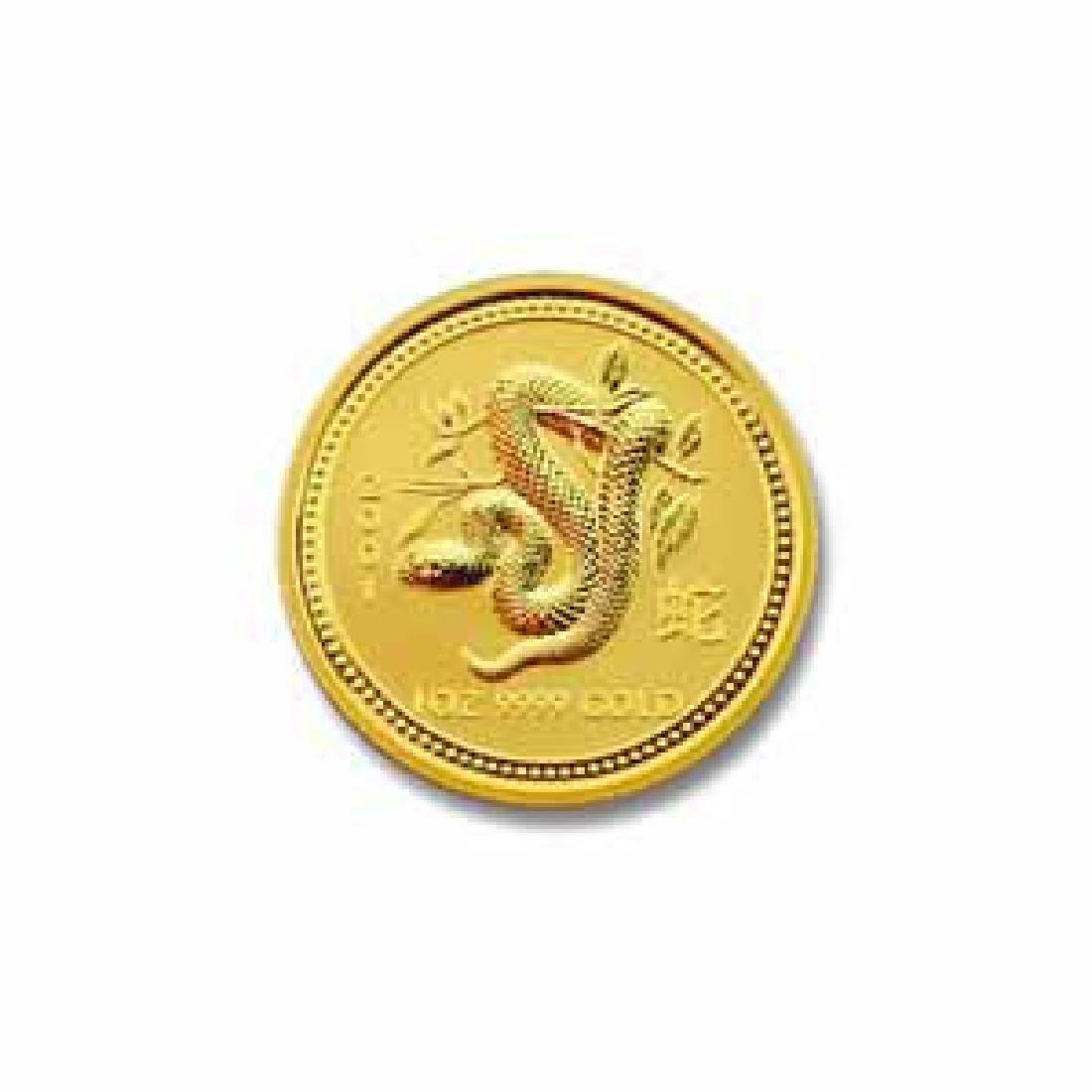 2001 Australia 1/10 oz Gold Lunar Snake