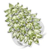 889 Carat Genuine Peridot 925 Sterling Silver Ring