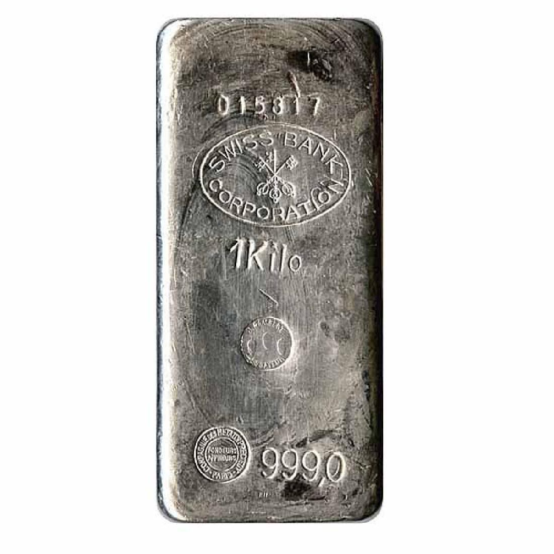 Random Manufacturer Silver Bar 1 Kilo - 32.15 oz