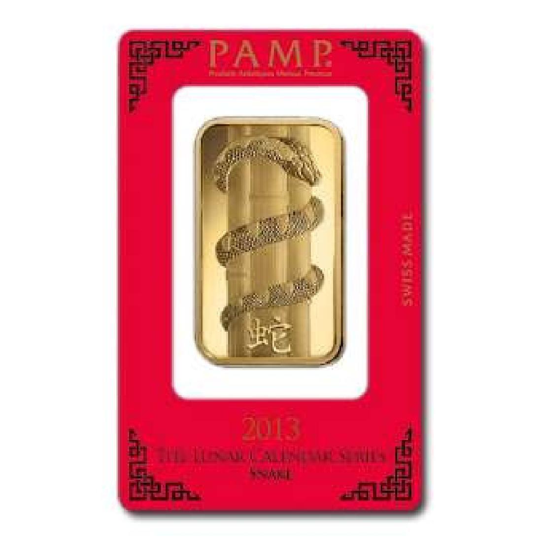 PAMP Suisse 100 Gram Gold Bar - 2013 Snake Design