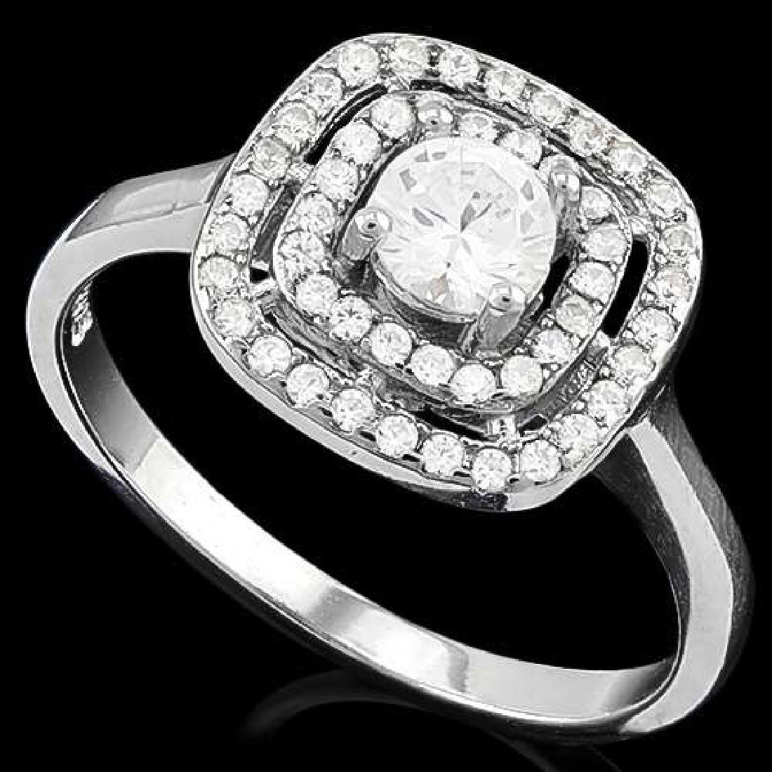 1 CTW (53 PCS) FLAWLESS CREATED DIAMOND 925 STERLING SI