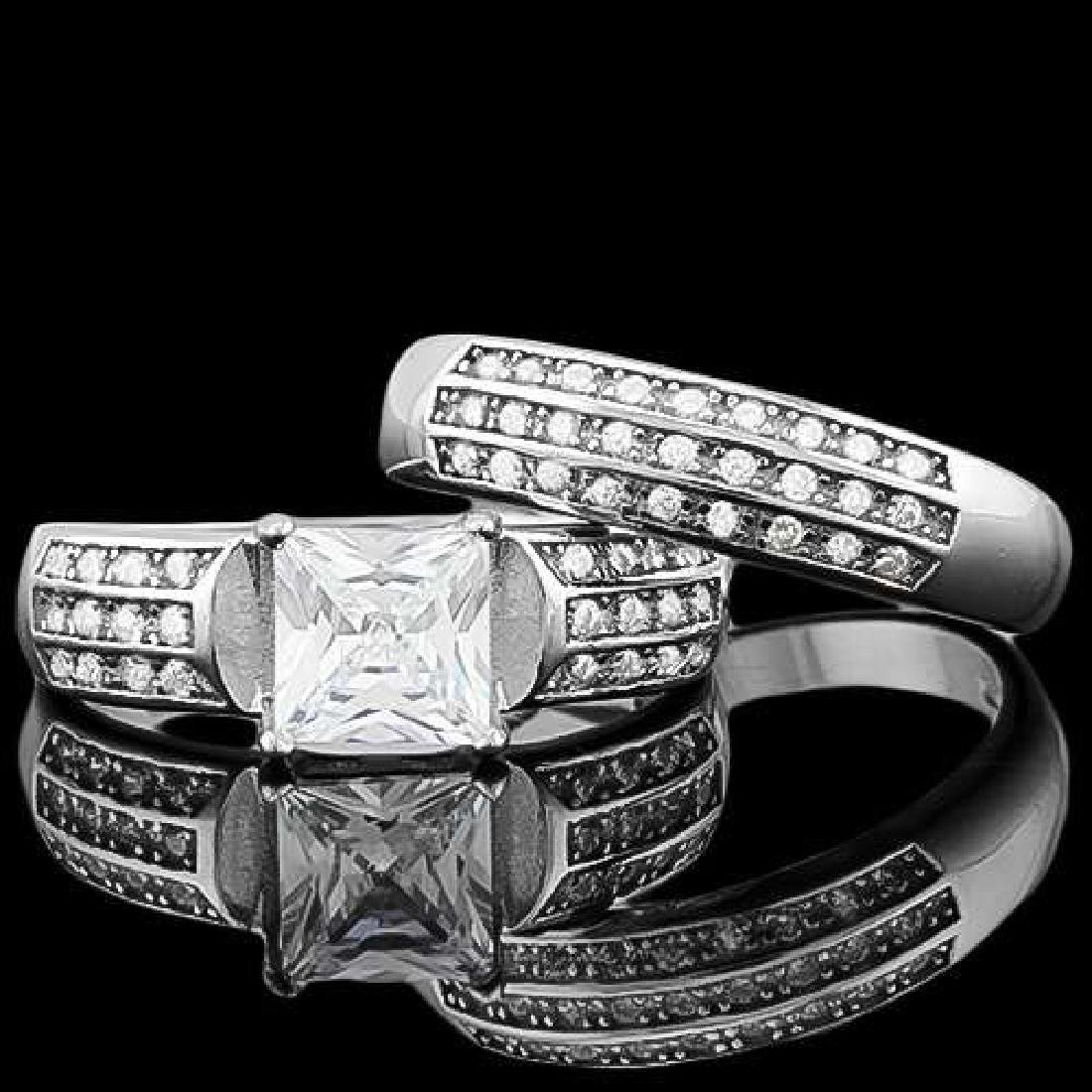 4 CTW (55 PCS) FLAWLESS CREATED DIAMOND 925 STERLING SI