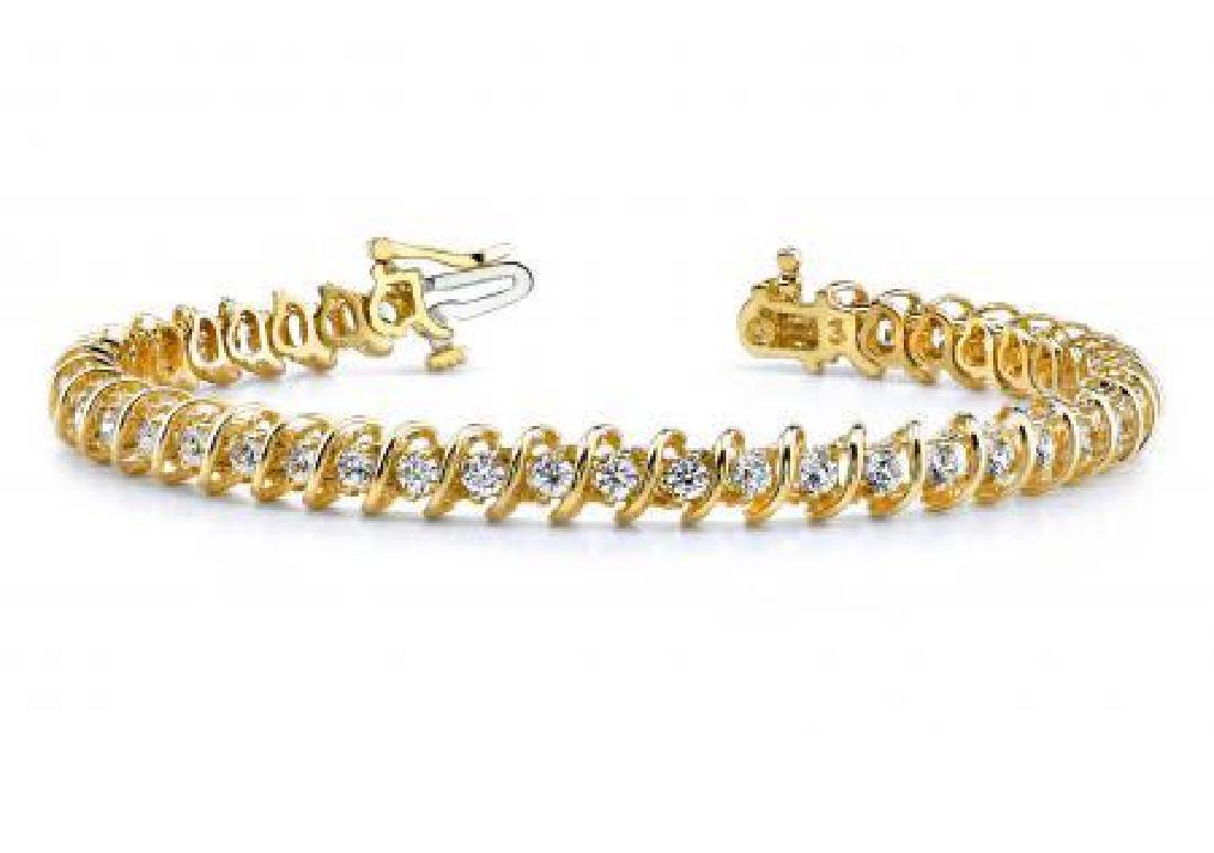 14KT YELLOW GOLD .40 CTW G-H SI2/SI3 DIAMOND SWIRL LINK