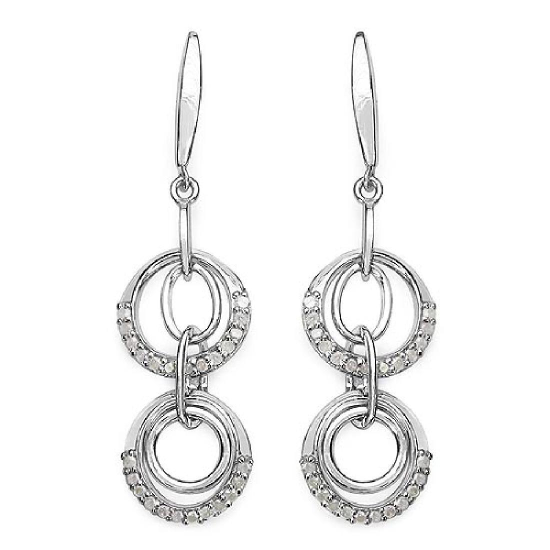 0.50 Carat Genuine White Diamond .925 Sterling Silver E