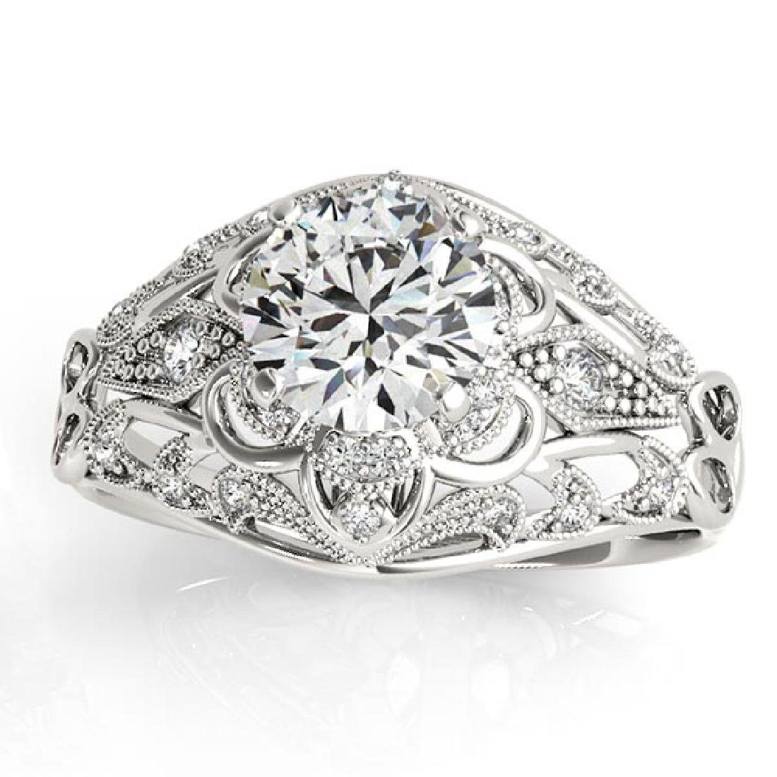 Vintage Art Deco Diamond Engagement Ring Setting 14k Wh