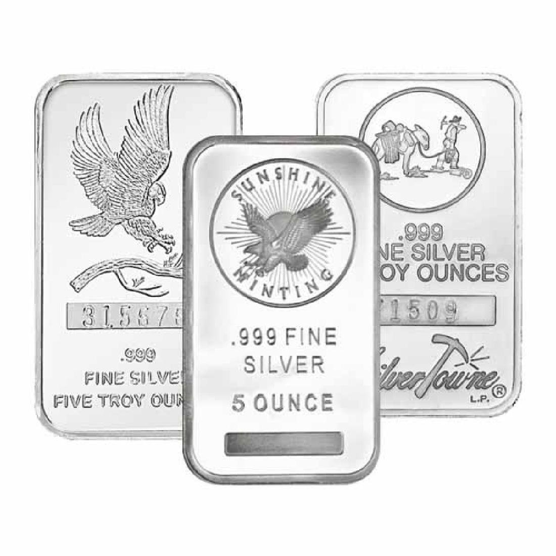 Random Manufacturer Silver Bar 5 oz