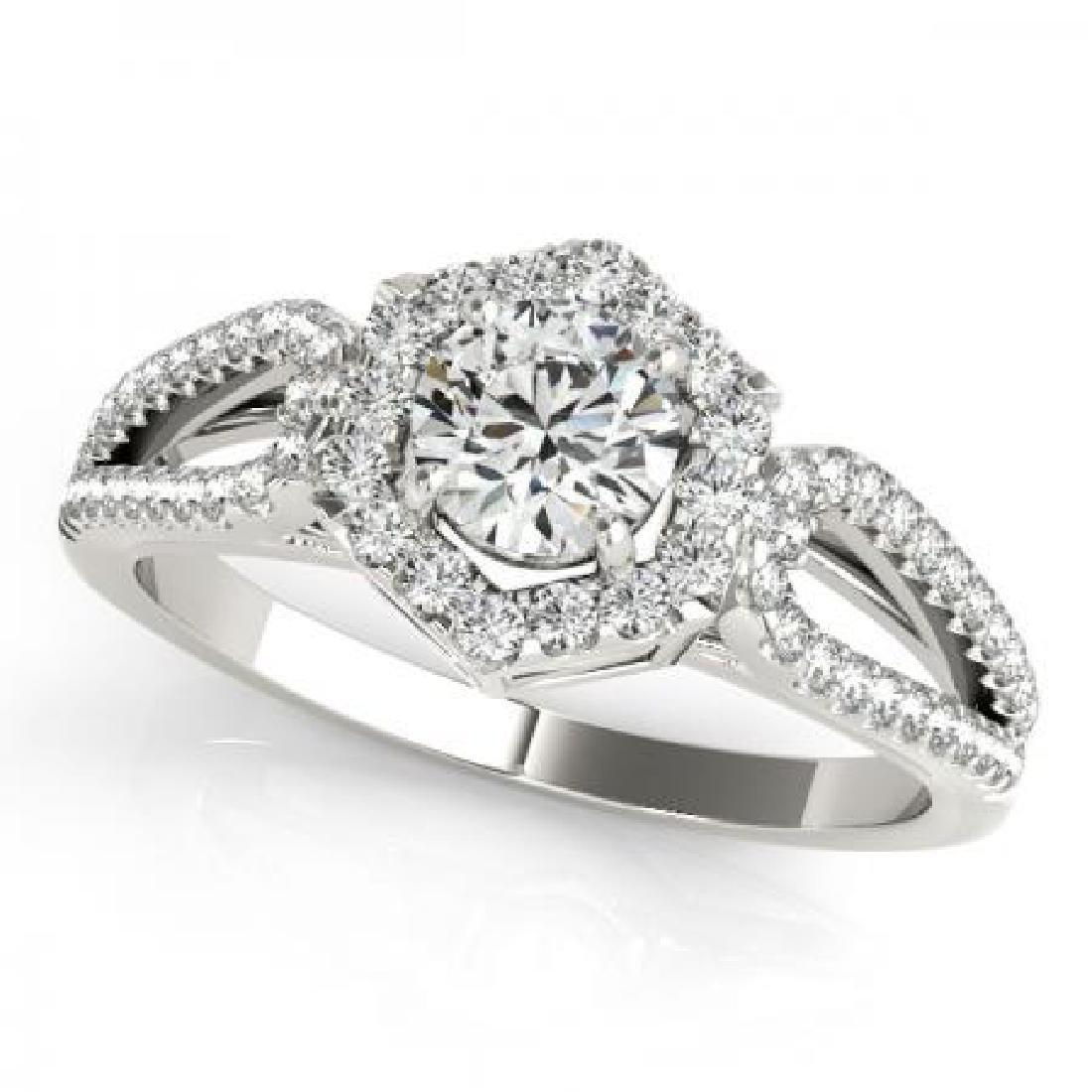CERTIFIED PLATINUM 1.38 CTW G-H/VS-SI1 DIAMOND HALO ENG