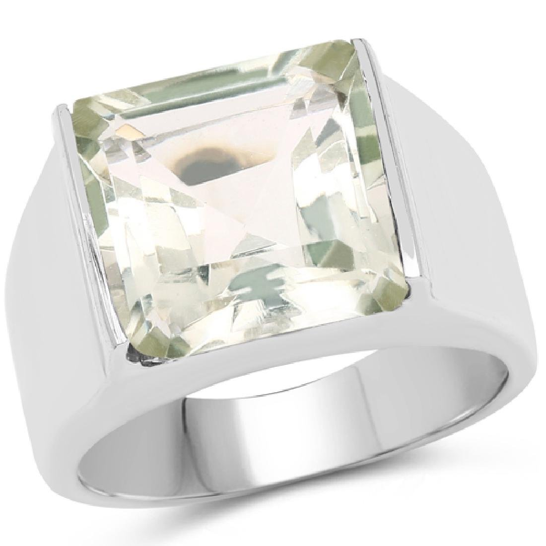 5.70 Carat Genuine Green Amethyst Brass Ring