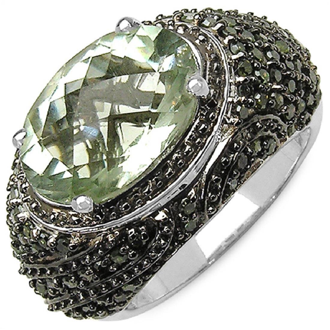 5.22 Carat Genuine Green Amethyst and 0.88 ct.t.w Genui