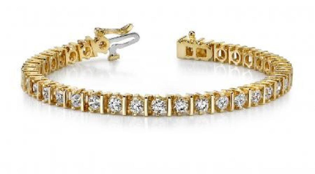 14K YELLOW GOLD 2 CTW G-H I1/I2 CLASSIC DIAMOND LINK PR