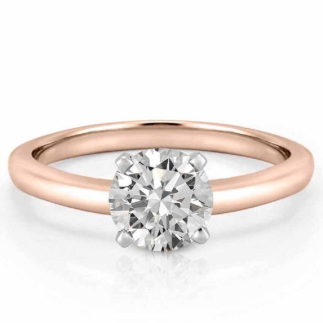 CERTIFIED 1.11 CTW I/I1 ROUND DIAMOND SOLITAIRE RING IN