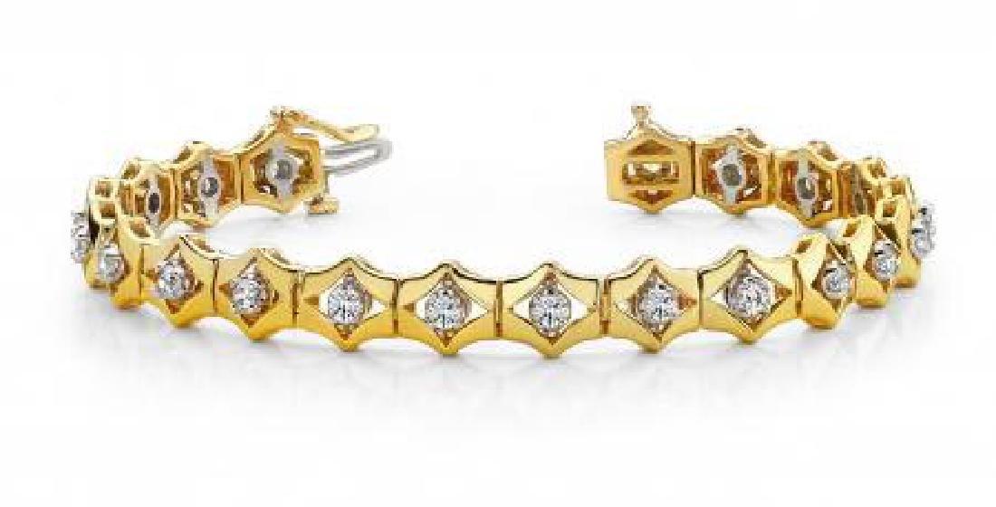 14KT YELLOW GOLD 1 CTW G-H VS2/SI1 FLOATING DIAMOND BOX
