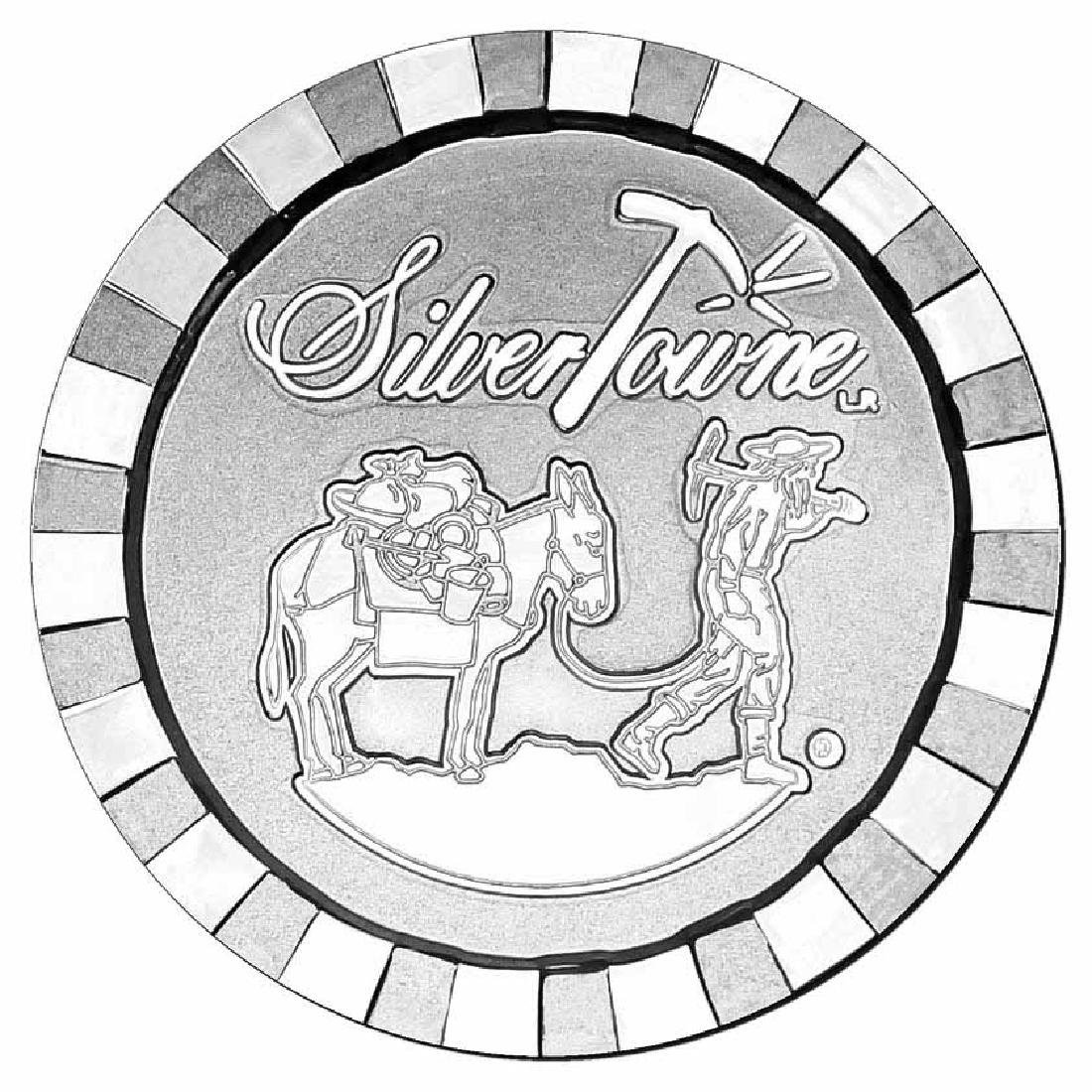 SilverTowne 1 oz Silver Round - Stackable Poker Chip De