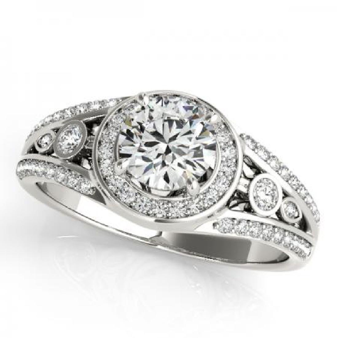 CERTIFIED PLATINUM 1.15 CTW G-H/VS-SI1 DIAMOND HALO ENG