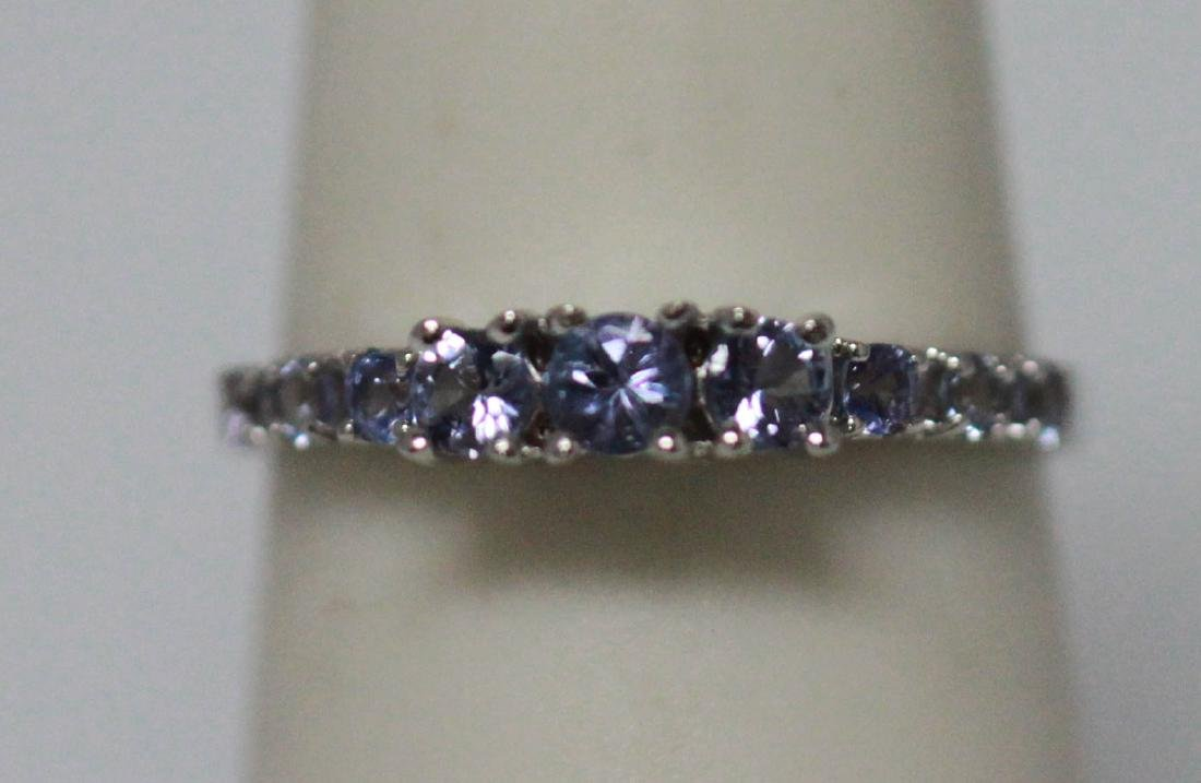0.75 CTW TANZANITE RING .925 STERLING SILVER