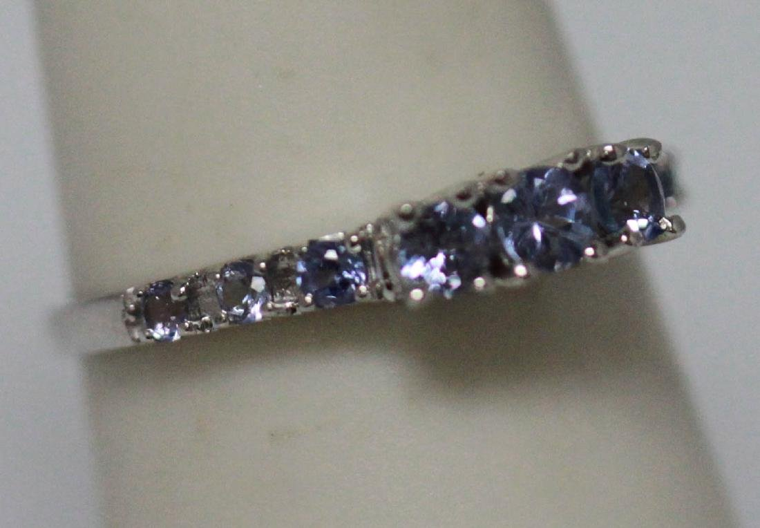 0.75 CTW TANZANITE RING .925 STERLING SILVER - 2