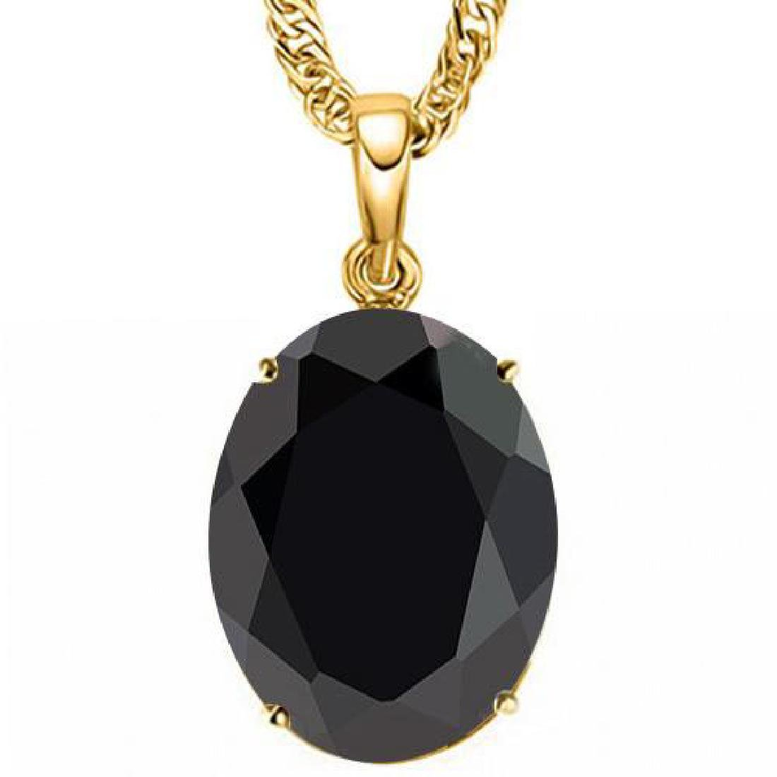 0.95 CTW BLACK SAPPHIRE 10K SOLID YELLOW GOLD OVAL SHAP