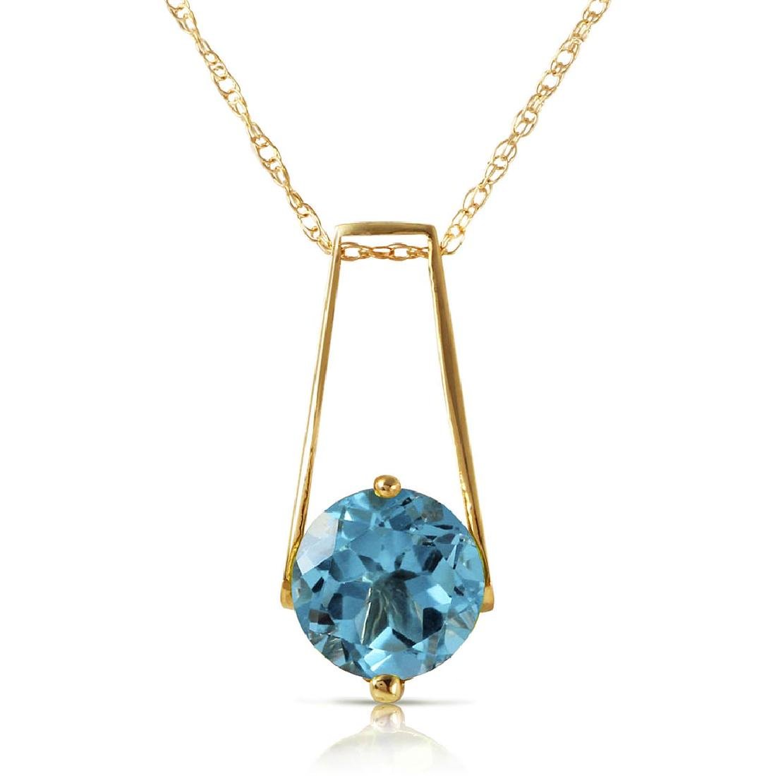 1.45 Carat 14K Solid Gold Love At First Light Blue Topa
