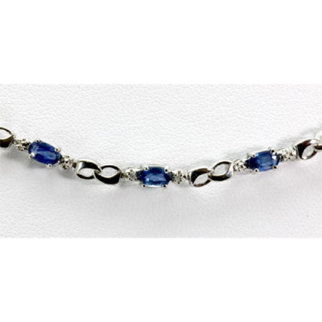 Genuine 4.62 ctw Tanzanite Diamond Necklace10k W/Y Gold - 2