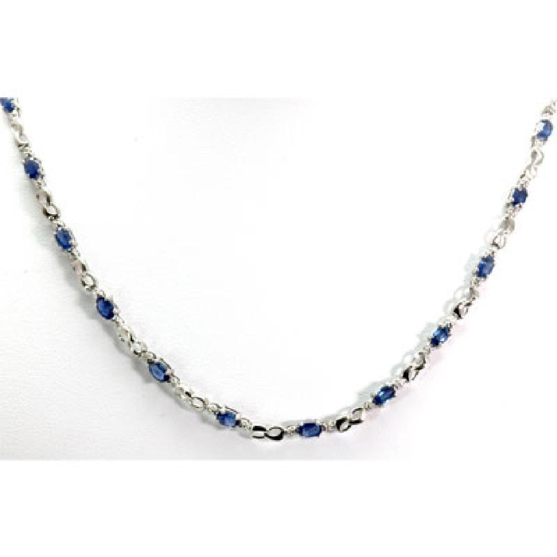 Genuine 4.62 ctw Tanzanite Diamond Necklace10k W/Y Gold - 3