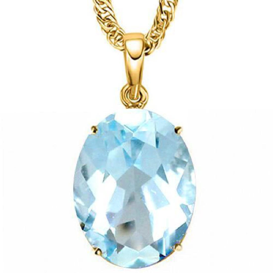 0.9 CTW SKY BLUE TOPAZ 10K SOLID YELLOW GOLD OVAL SHAPE