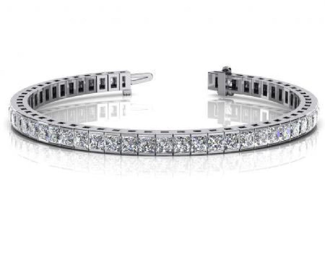 14K WHITE GOLD 4 CTW G-H VS2/SI1 CLASSIC DIAMOND BOX TE