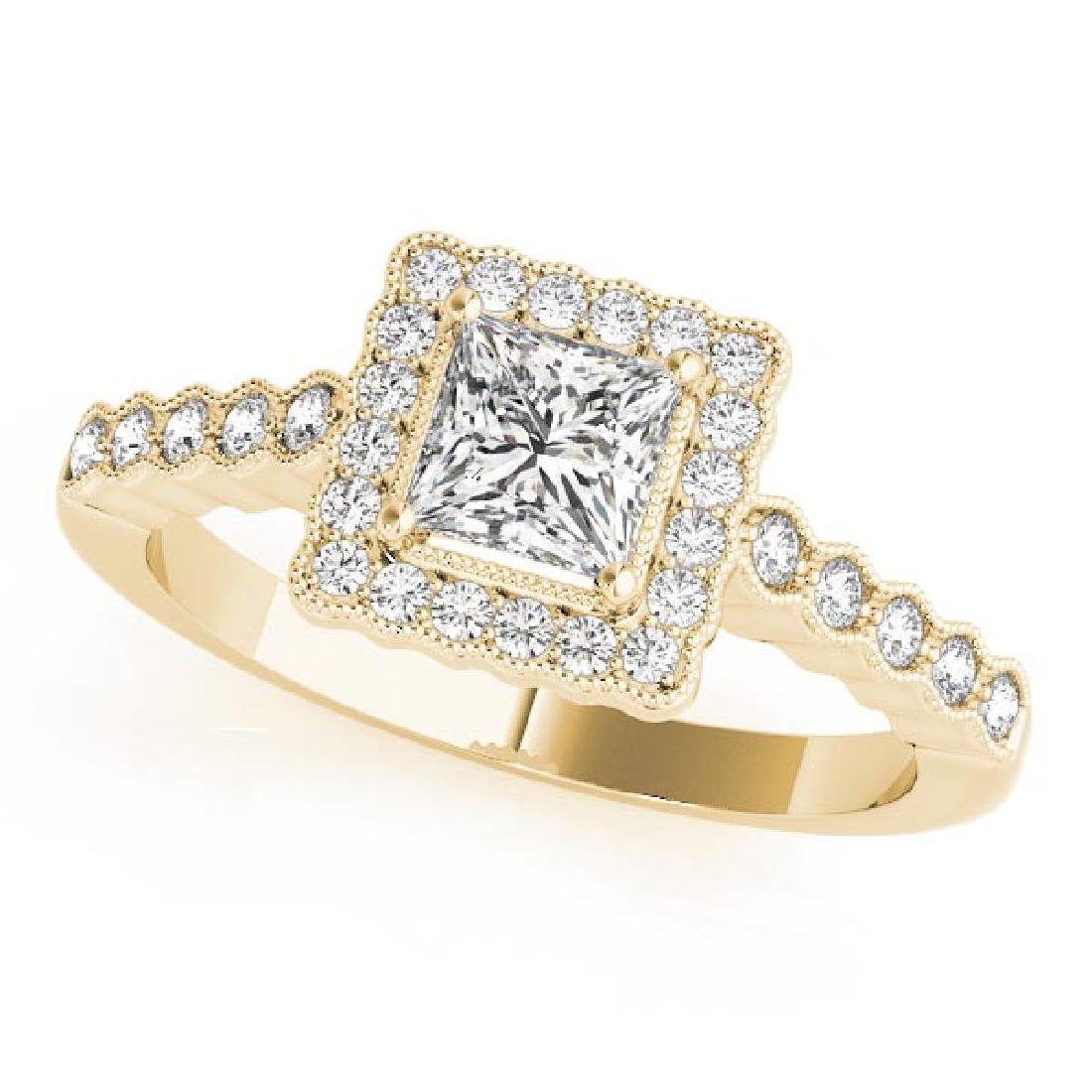 CERTIFIED 18K YELLOW GOLD 0.66 CT G-H/VS-SI1 DIAMOND HA