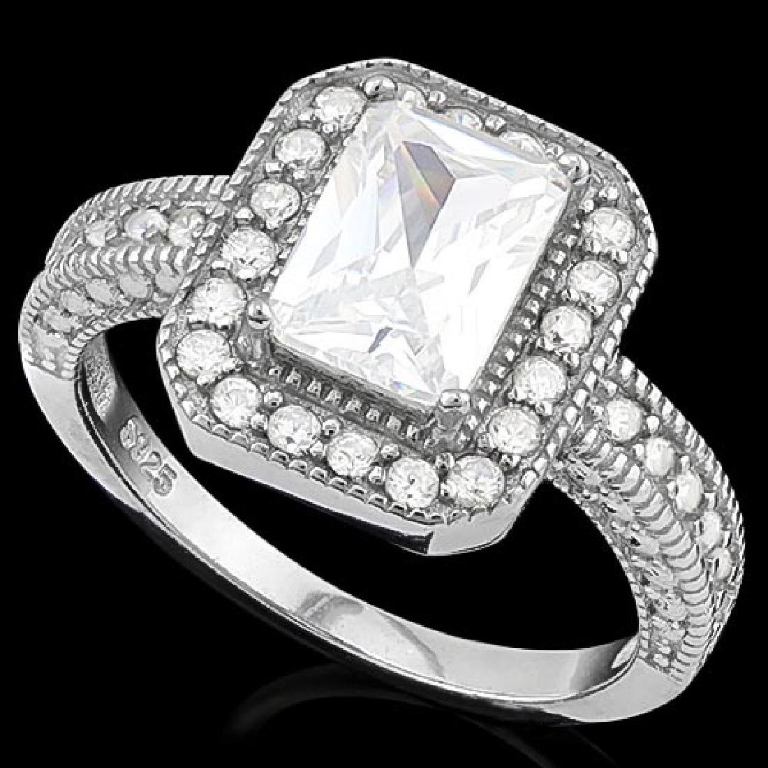 2 CTW (35 PCS) FLAWLESS CREATED DIAMOND 925 STERLING SI