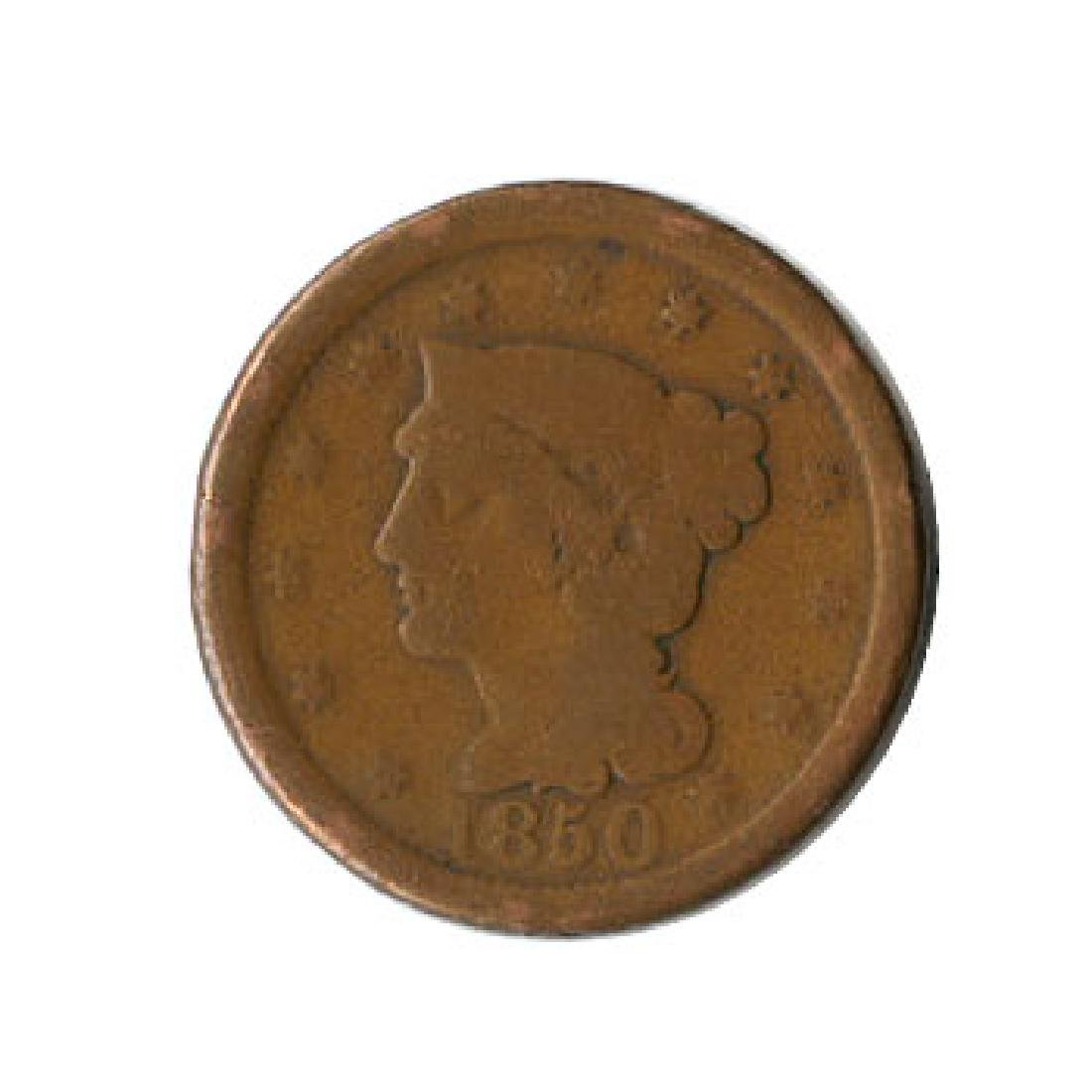 Early Type Braided Hair Large Cent 1840-1857 G-VG