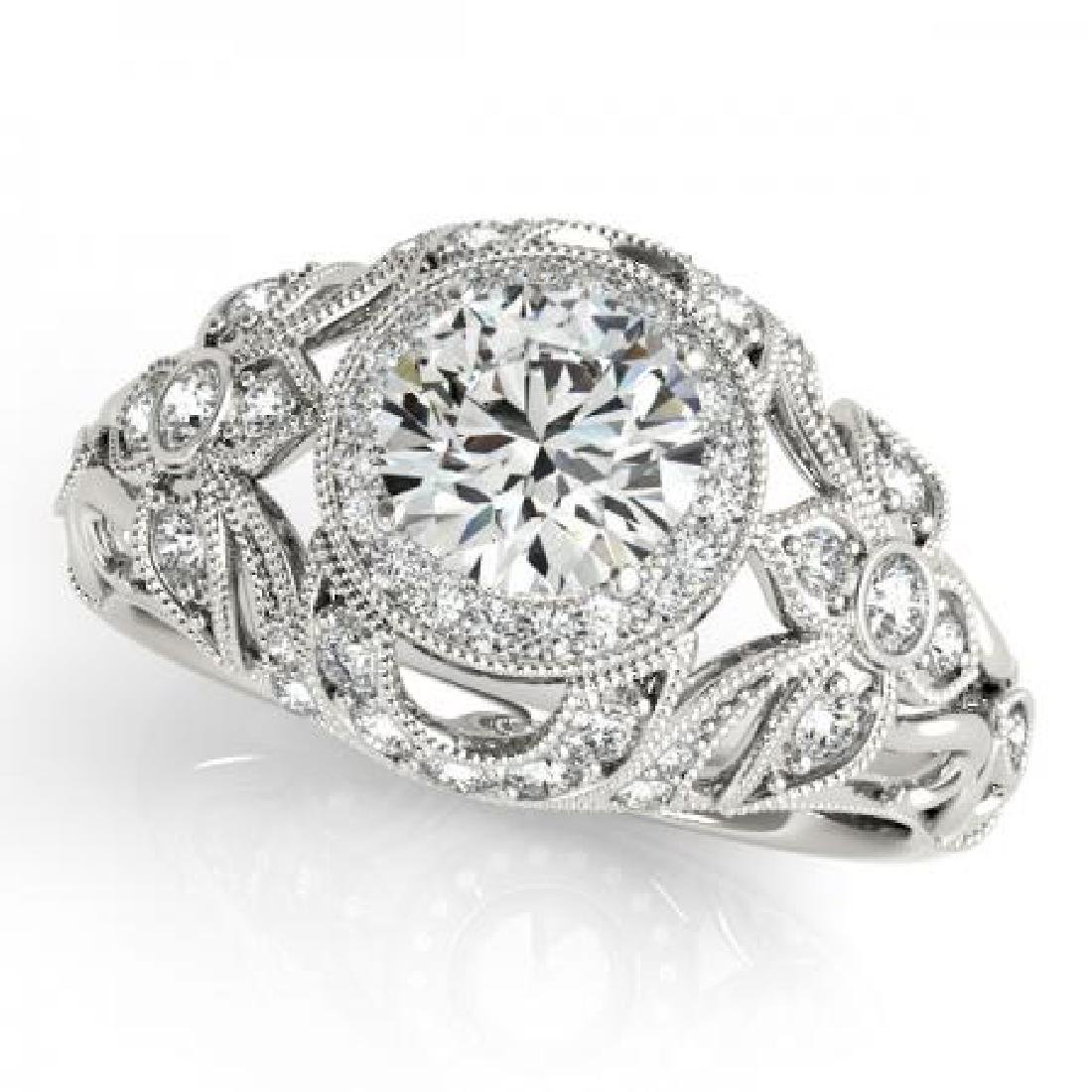 CERTIFIED PLATINUM .91 CTW G-H/VS-SI1 DIAMOND HALO ENGA