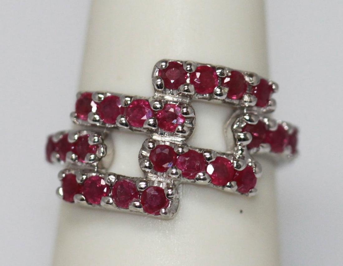 NATURAL 3.75 CTW RUBY RING .925 STERLING SILVER