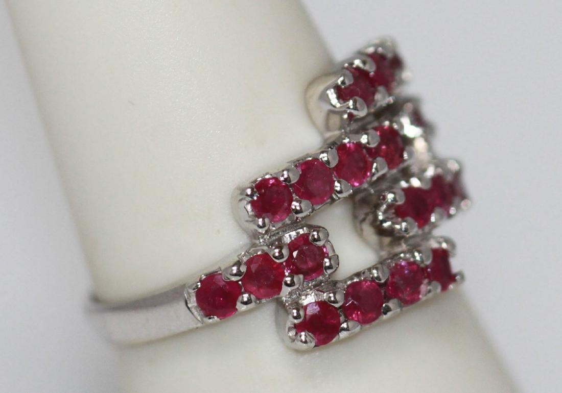 NATURAL 3.75 CTW RUBY RING .925 STERLING SILVER - 2