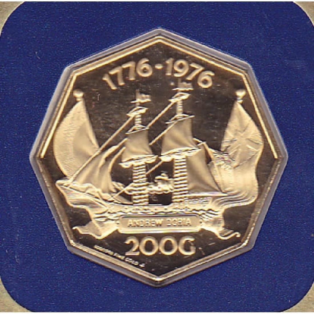 Netherlands Antilles 200 Gulden gold PF 1976/1977