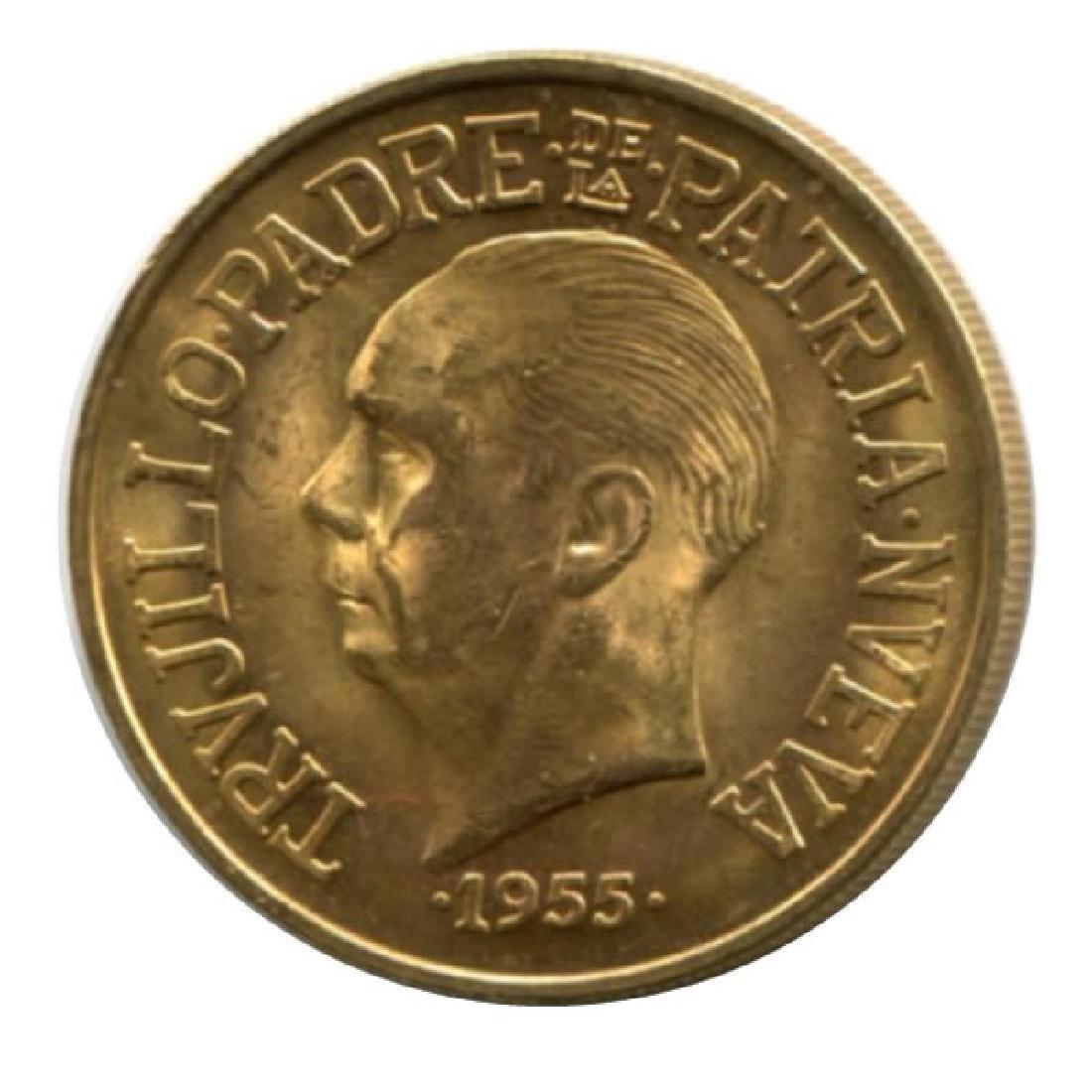 Dominican Republic 30 pesos gold 1955 Trujillo