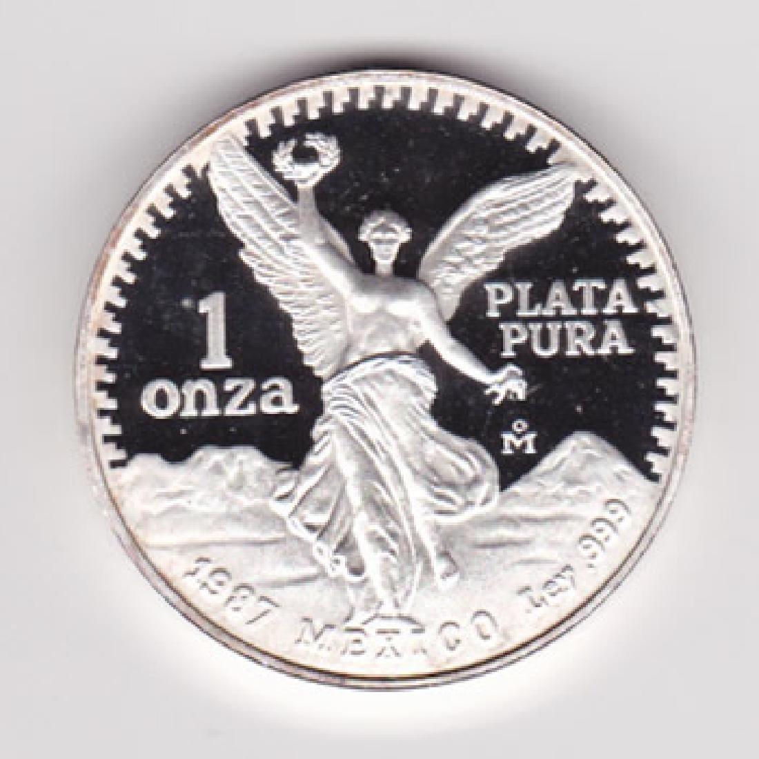 Mexico 1 ounce silver Libertad Proof 1987