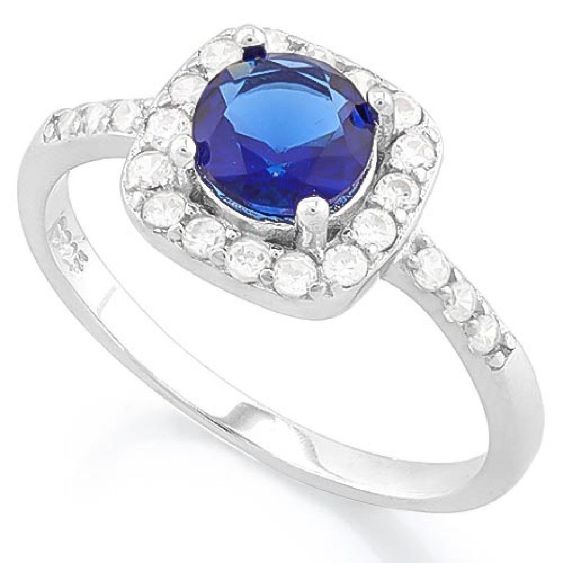 1 1/3 CTW CREATED BLUE SAPPHIRE & 1/4 CTW (26 PCS) FLAW