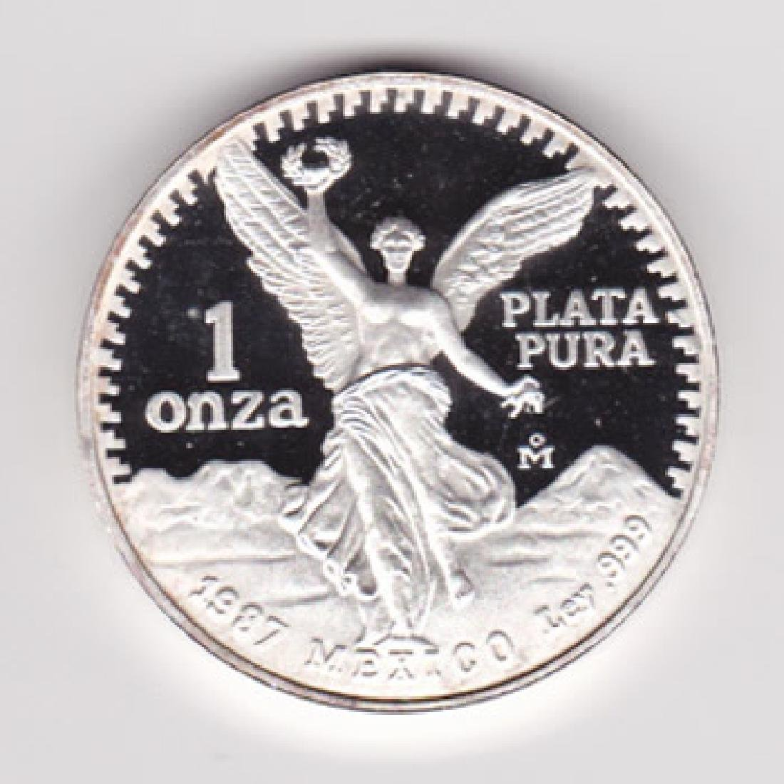 Mexico 1 ounce silver Libertad Proof 1987